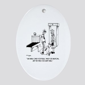 Security Cartoon 5589 Oval Ornament