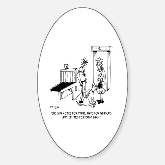 Security Cartoon 5589 Sticker (Oval)