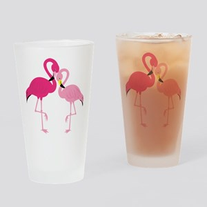Pink Flamingo Drinking Glass