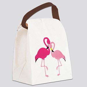Pink Flamingo Canvas Lunch Bag