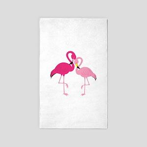 Pink Flamingo Area Rug