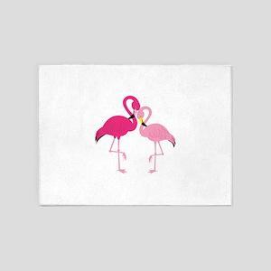 Pink Flamingo 5'x7'Area Rug