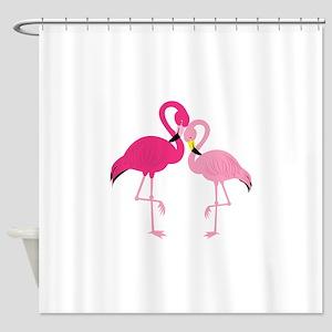 Pink Flamingo Shower Curtain