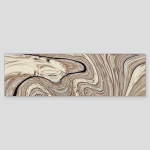 rustic brown swirls marble Bumper Sticker