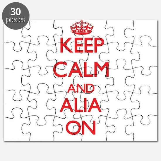 Keep Calm and Alia ON Puzzle