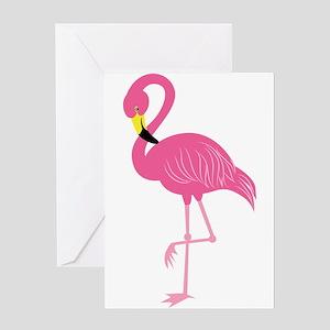 Pink Flamingo Greeting Cards