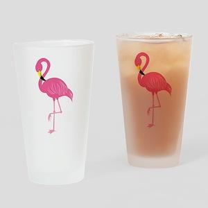 Pink Flamingo Drinking Glass