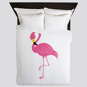 Pink Flamingo Queen Duvet