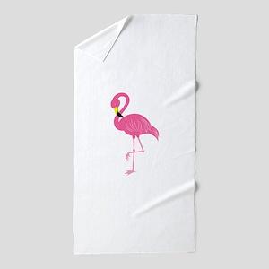 Pink Flamingo Beach Towel