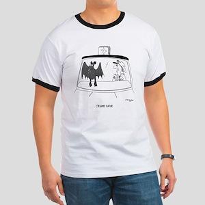 Bat Cartoon 5118 Ringer T