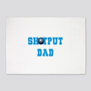 Shot Put Dad 5'x7'Area Rug