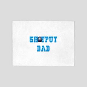 Shot Put Dad 5'x7'Area Rug