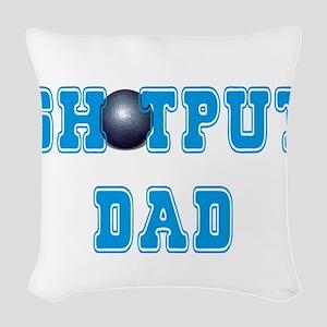 Shot Put Dad Woven Throw Pillow