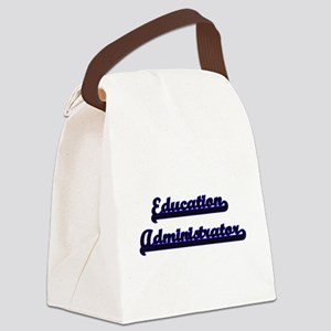 Education Administrator Classic J Canvas Lunch Bag