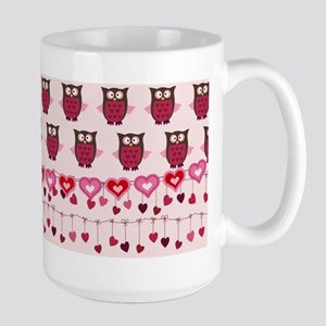 Valentine Owls and Hearts Mugs