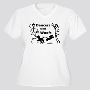 Dancers With Woofs Women's Plus Size V-Neck T-Shir