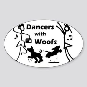 Dancers With Woofs Oval Sticker