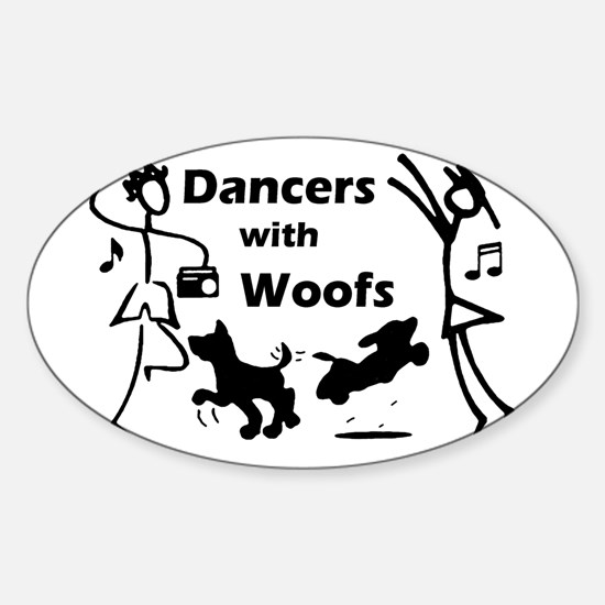 Dancers With Woofs Oval Decal