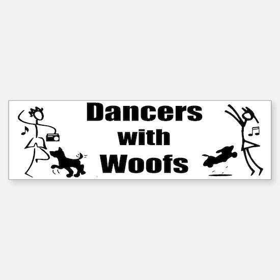 Dancers With Woofs Bumper Bumper Bumper Sticker