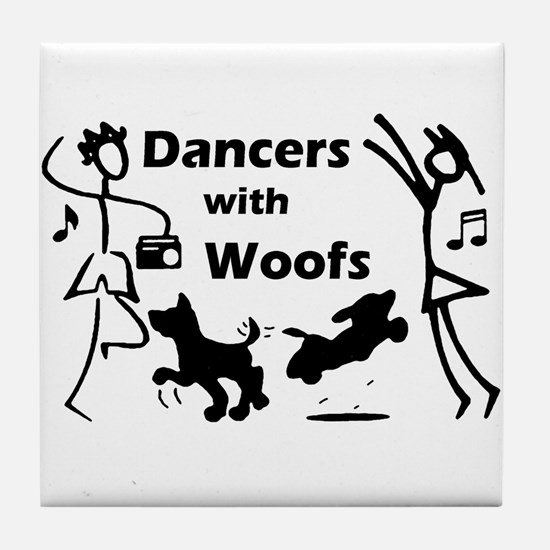 Dancers With Woofs Tile Coaster