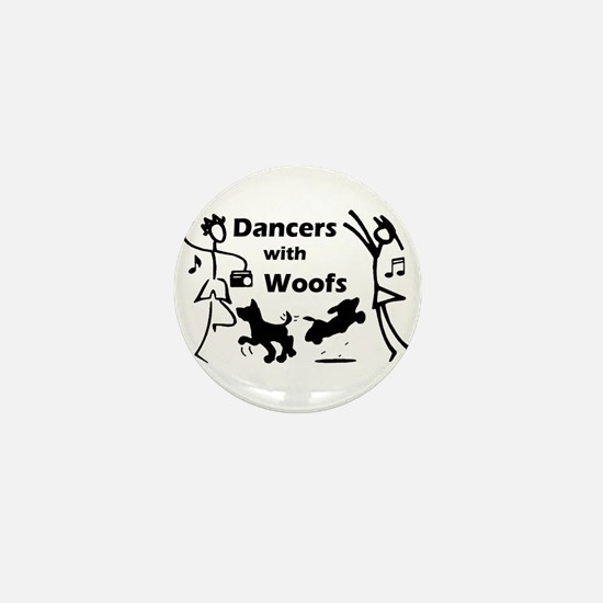 Dancers With Woofs Mini Button