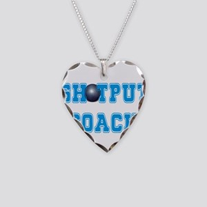 Shotput Coach Necklace Heart Charm