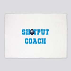 Shotput Coach 5'x7'Area Rug