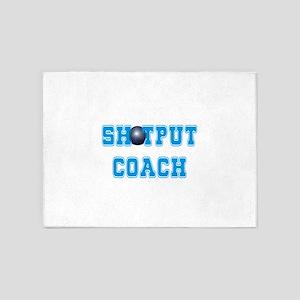 Shotput Coach 5'x7'Area Rug