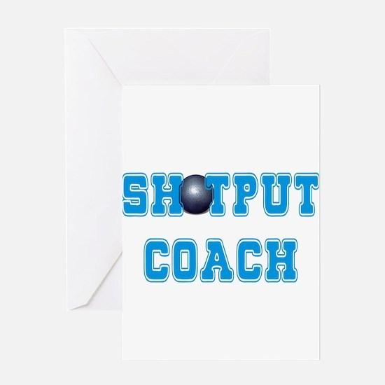 Shotput Coach Greeting Cards