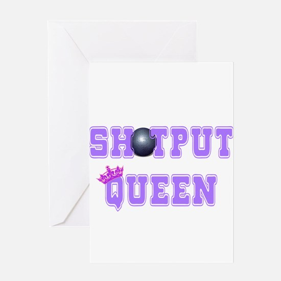 Shotput Queen Greeting Cards