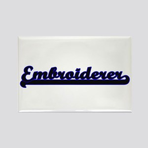 Embroiderer Classic Job Design Magnets