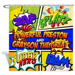 Preston And Grayson Shower Curtain
