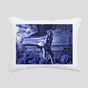 Marilyn Monroe in Palm S Rectangular Canvas Pillow
