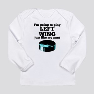 Left Wing Like My Aunt Long Sleeve T-Shirt