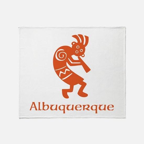 Albuquerque Kokopelli Throw Blanket