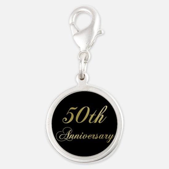 50th Wedding Anniversary Charms