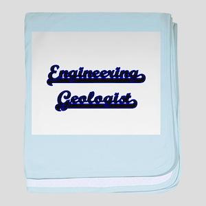 Engineering Geologist Classic Job Des baby blanket