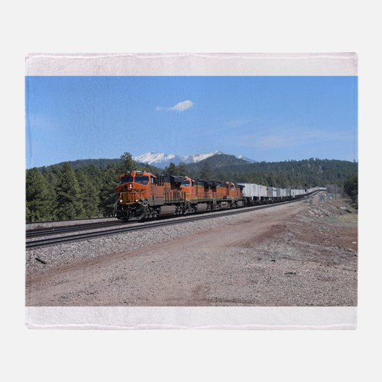 BNSF in Arizona 1 Throw Blanket