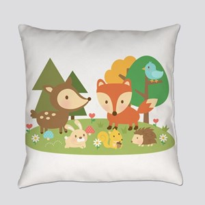 Cute Woodland Animal Theme For Kids Everyday Pillo