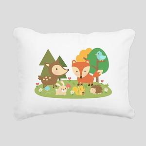Cute Woodland Animal Theme For Kids Rectangular Ca