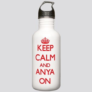Keep Calm and Anya ON Stainless Water Bottle 1.0L