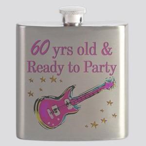 60TH ROCK STAR Flask