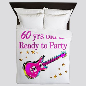 60TH ROCK STAR Queen Duvet