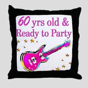 60TH ROCK STAR Throw Pillow