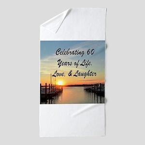 SPIRITUAL 60TH Beach Towel