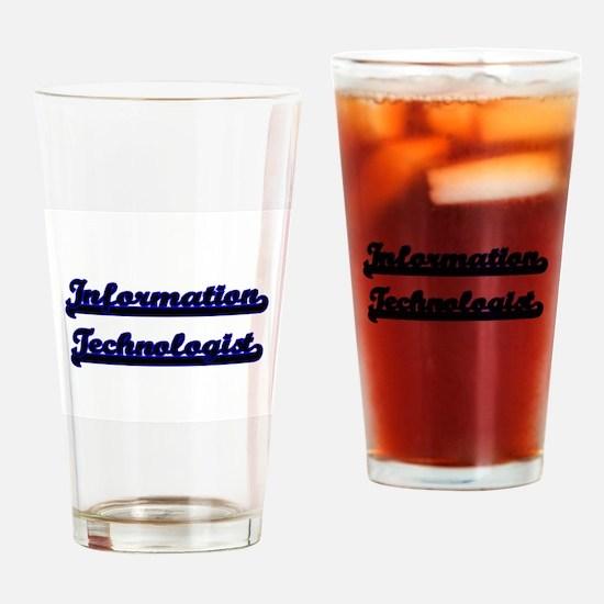 Information Technologist Classic Jo Drinking Glass