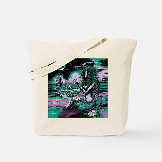 Mermaid Siren Atlantis Pearl Tote Bag