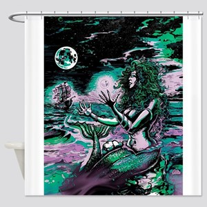 Mermaid Siren Atlantis Pearl Shower Curtain