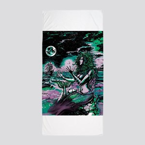 Mermaid Siren Atlantis Pearl Beach Towel
