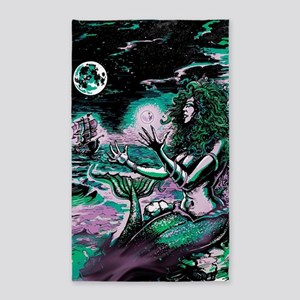 Mermaid Siren Atlantis Pearl Area Rug
